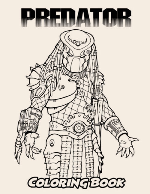 Predator coloring book cover