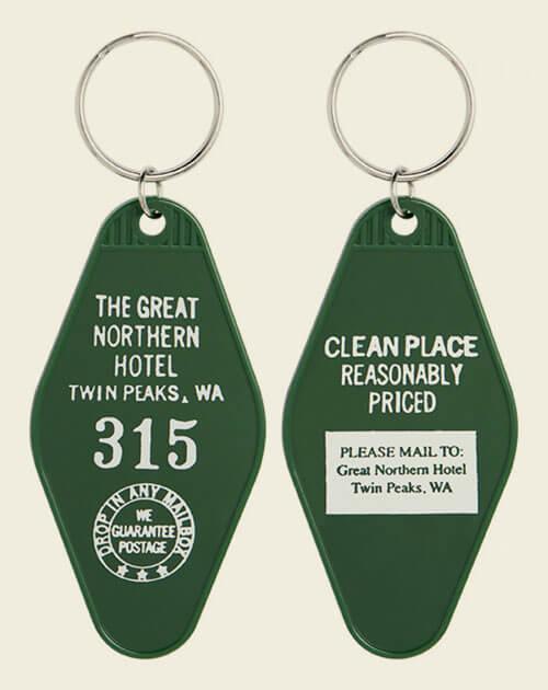 Twin Peaks key ring