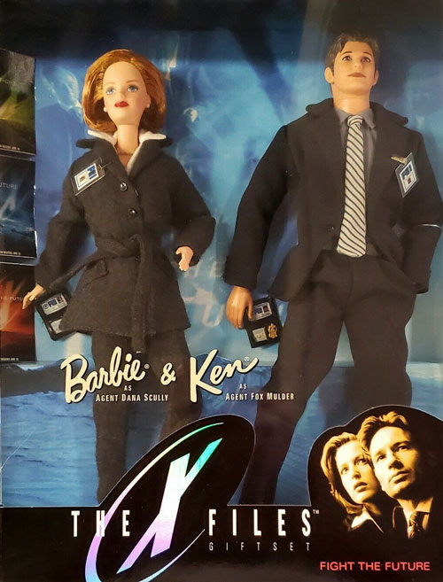 X-Files Barbie and Ken dolls