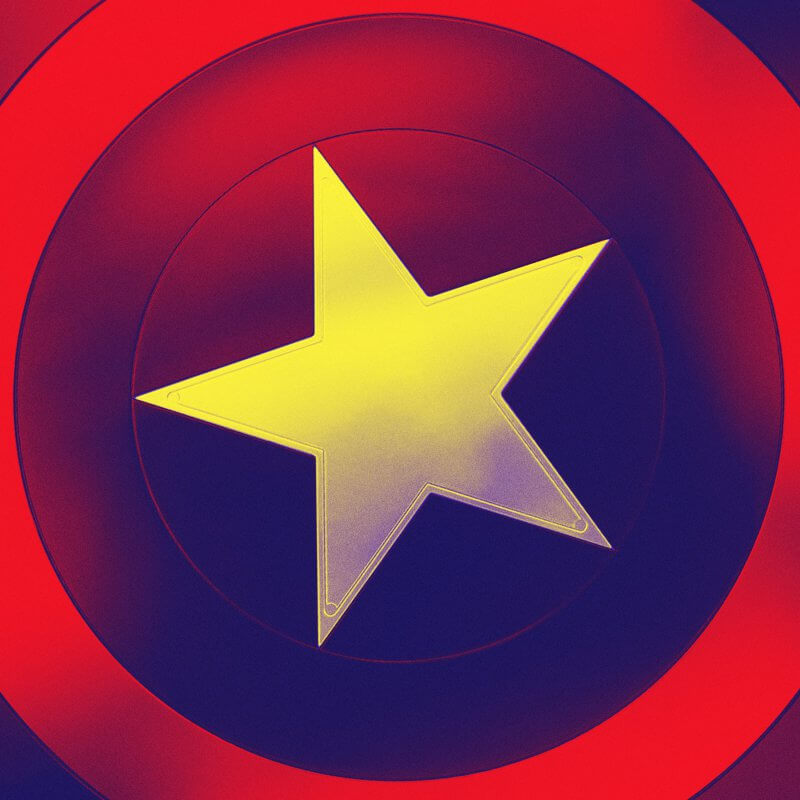 Captain America's shield for the Marvel Cinematic Universe special match