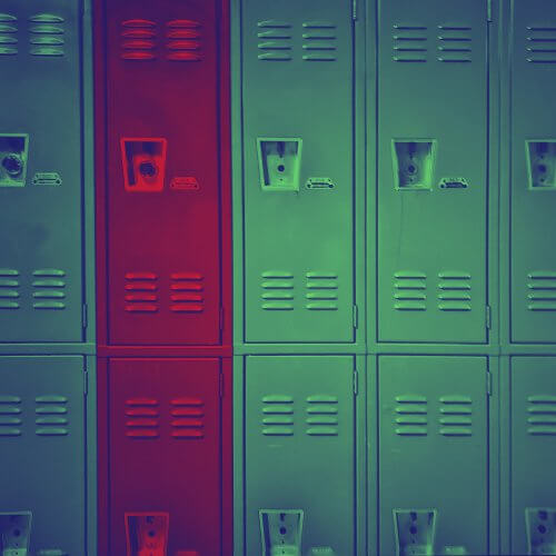 School lockers for The Graduate game